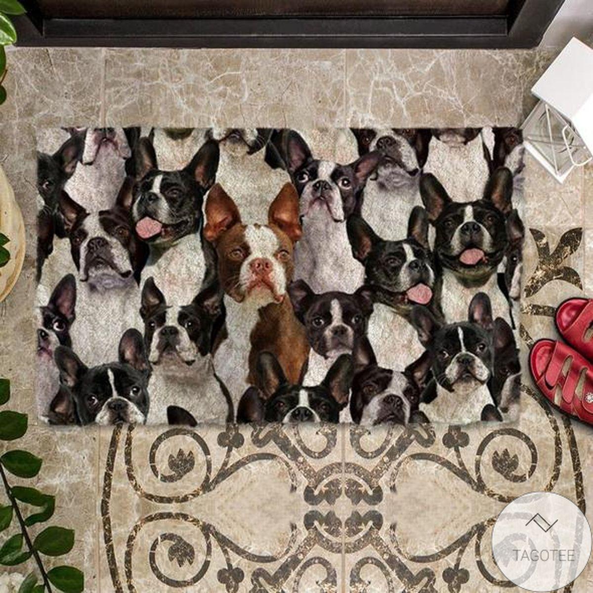 Discount A Bunch Of Boston Terriers Doormat
