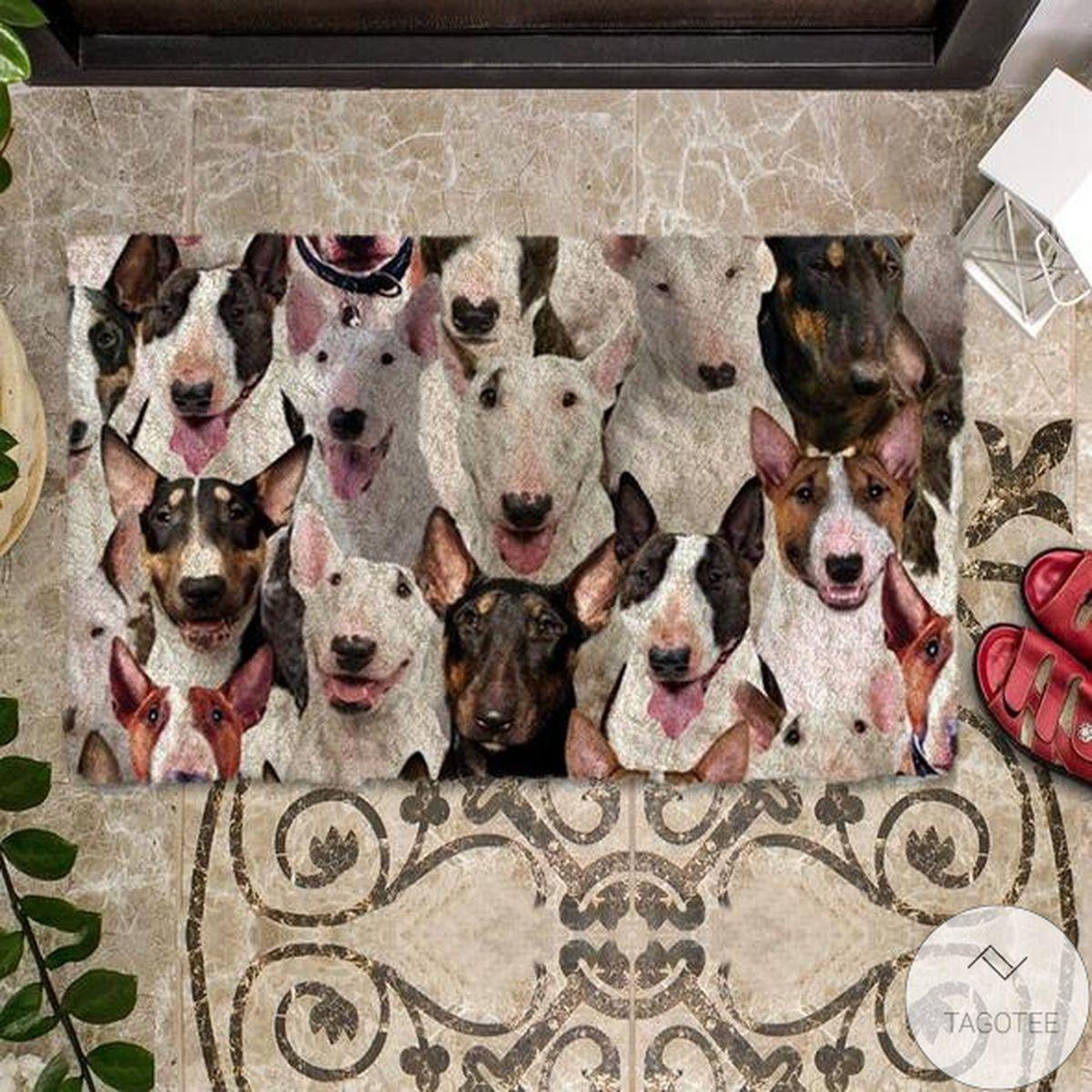 Free A Bunch Of Bull Terriers Doormat
