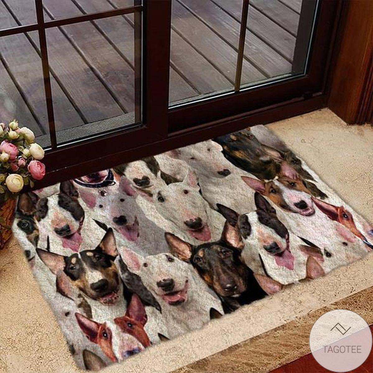 A Bunch Of Bull Terriers Doormat