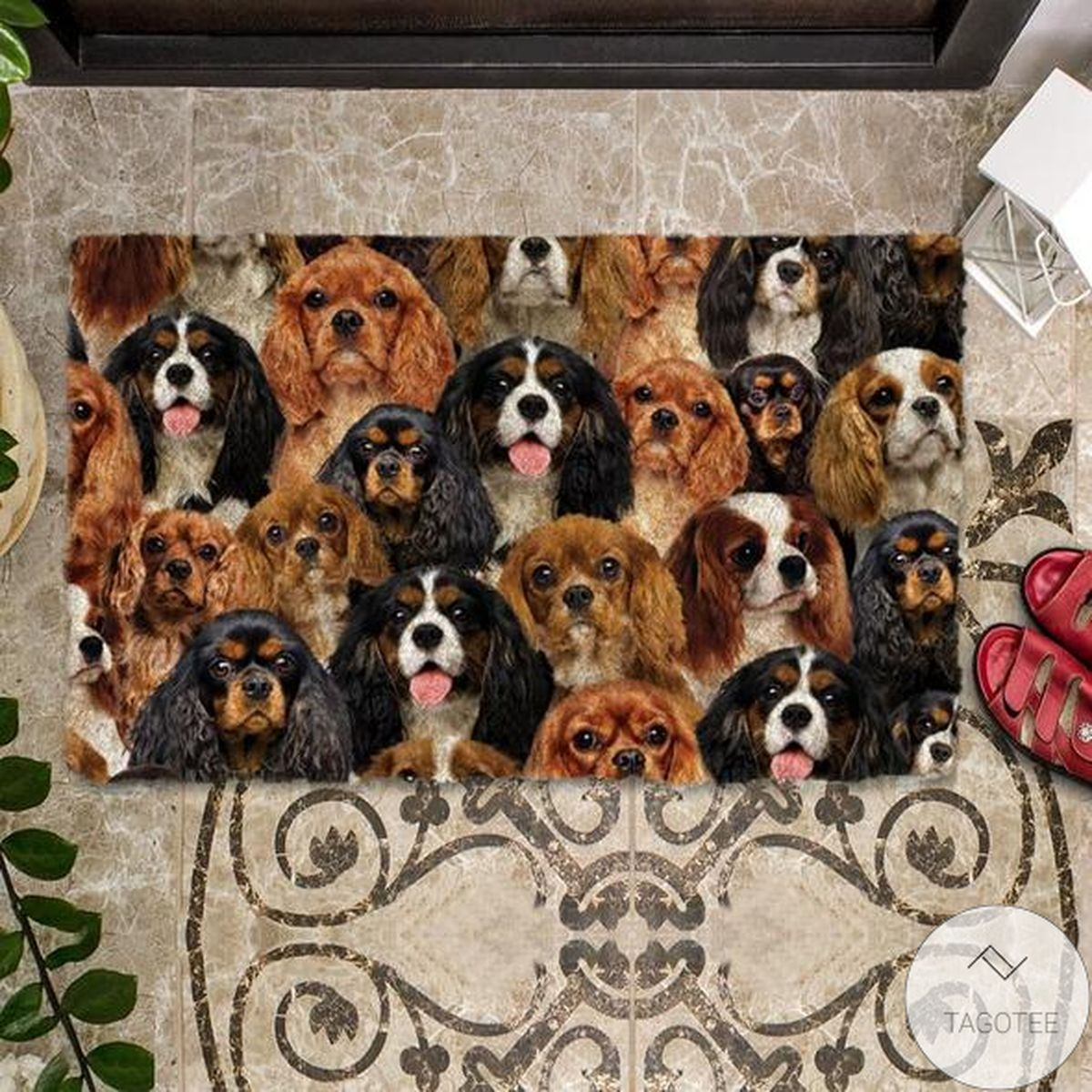 US Shop A Bunch Of Cavalier King Charles Spaniels Doormat