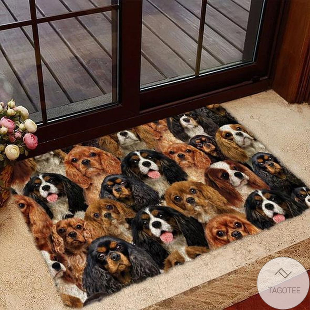 Mother's Day Gift A Bunch Of Cavalier King Charles Spaniels Doormat