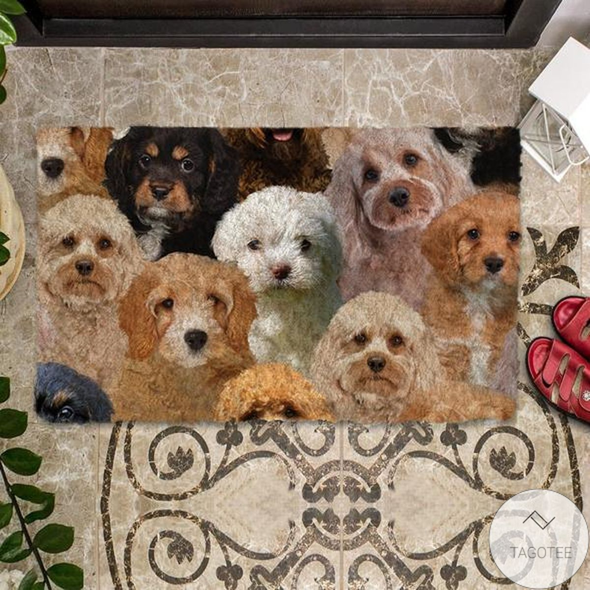 Very Good Quality A Bunch Of Cavapoos Doormat