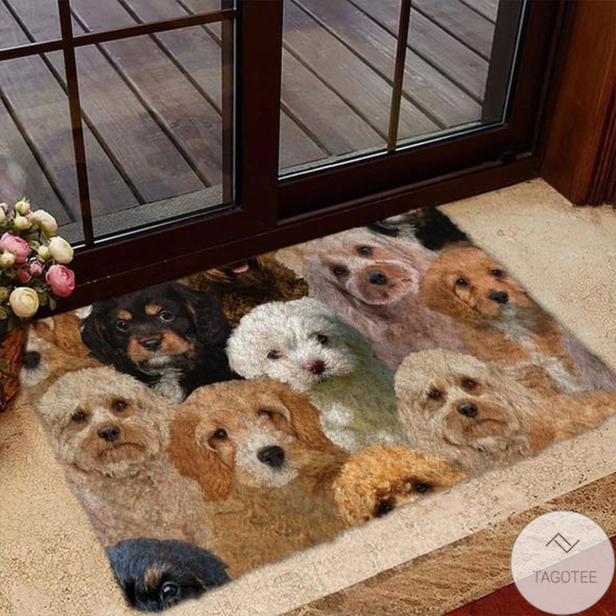 A Bunch Of Cavapoos Doormat