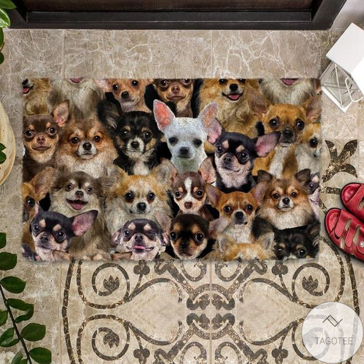 Buy In US A Bunch Of Chihuahuas Doormat