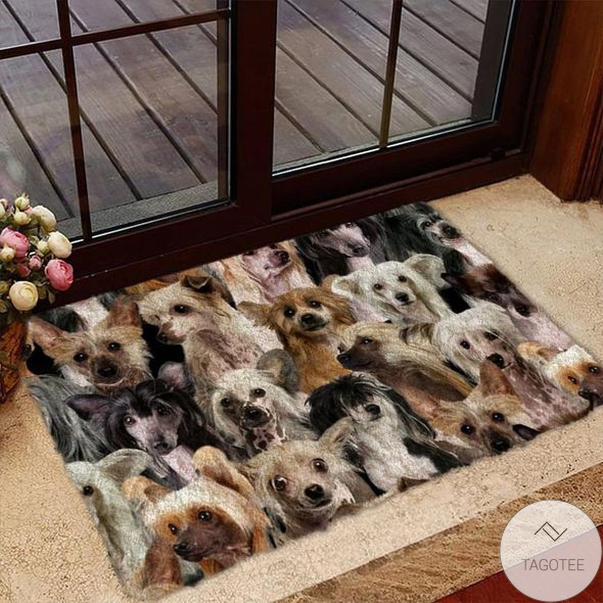 A Bunch Of Chinese Cresteds Doormat
