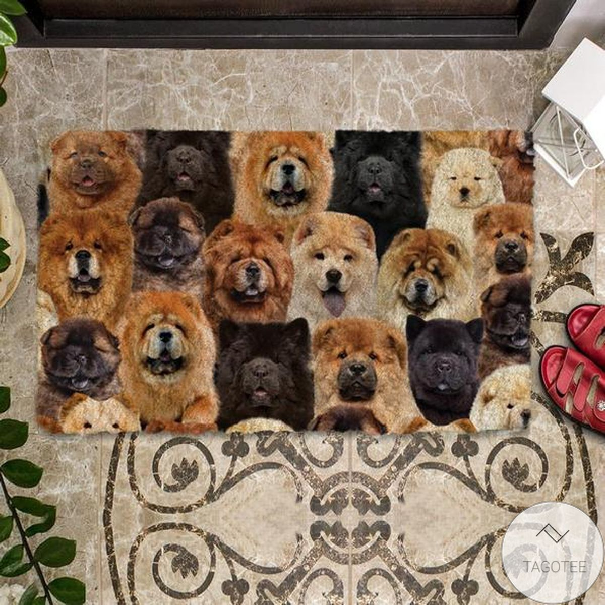 Official A Bunch Of Chow Chows Doormat