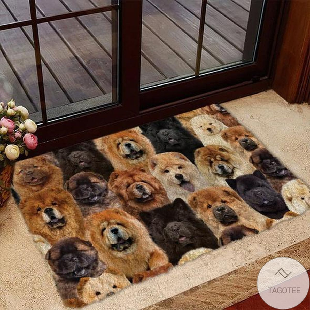 A Bunch Of Chow Chows Doormat