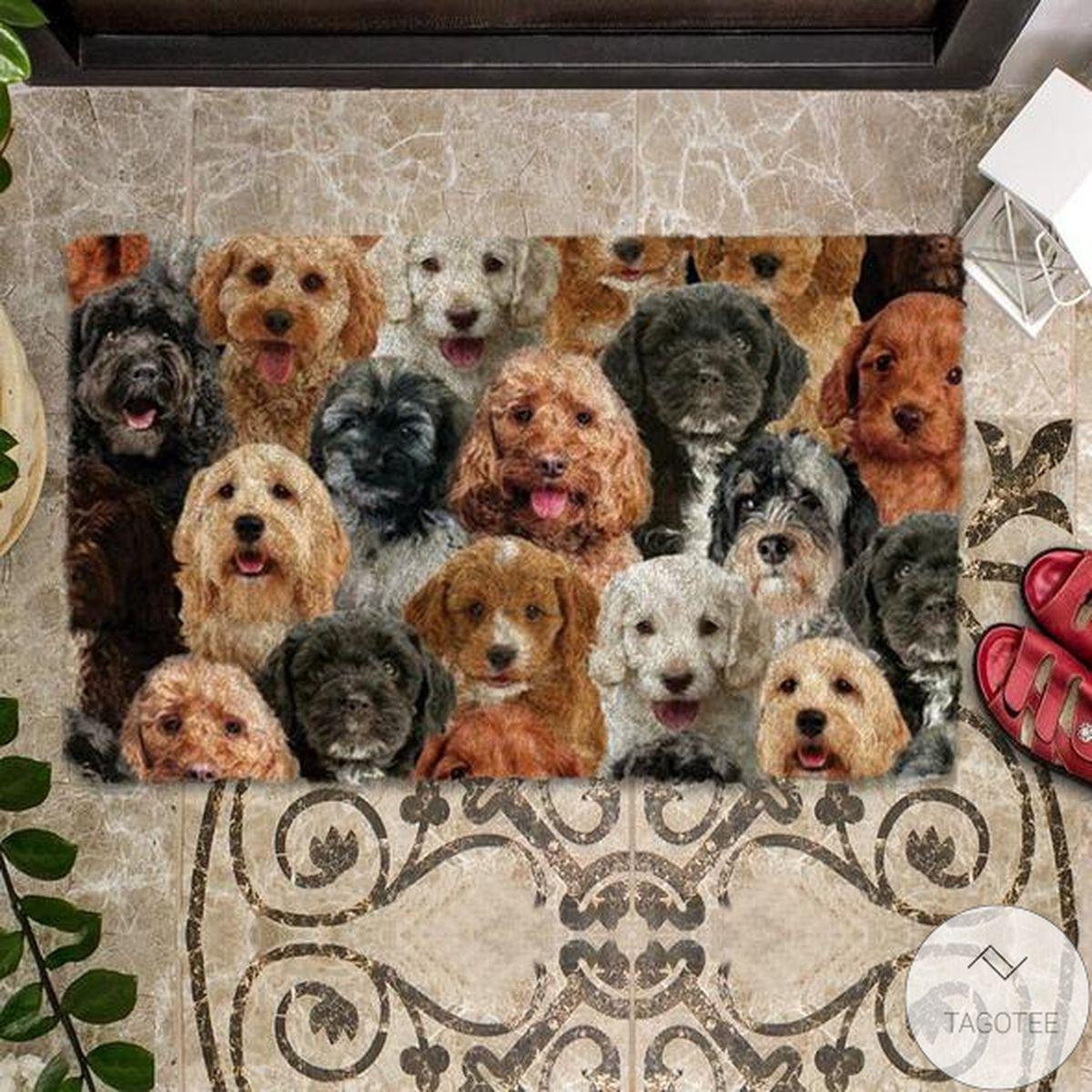 Unique A Bunch Of Cockapoos Doormat
