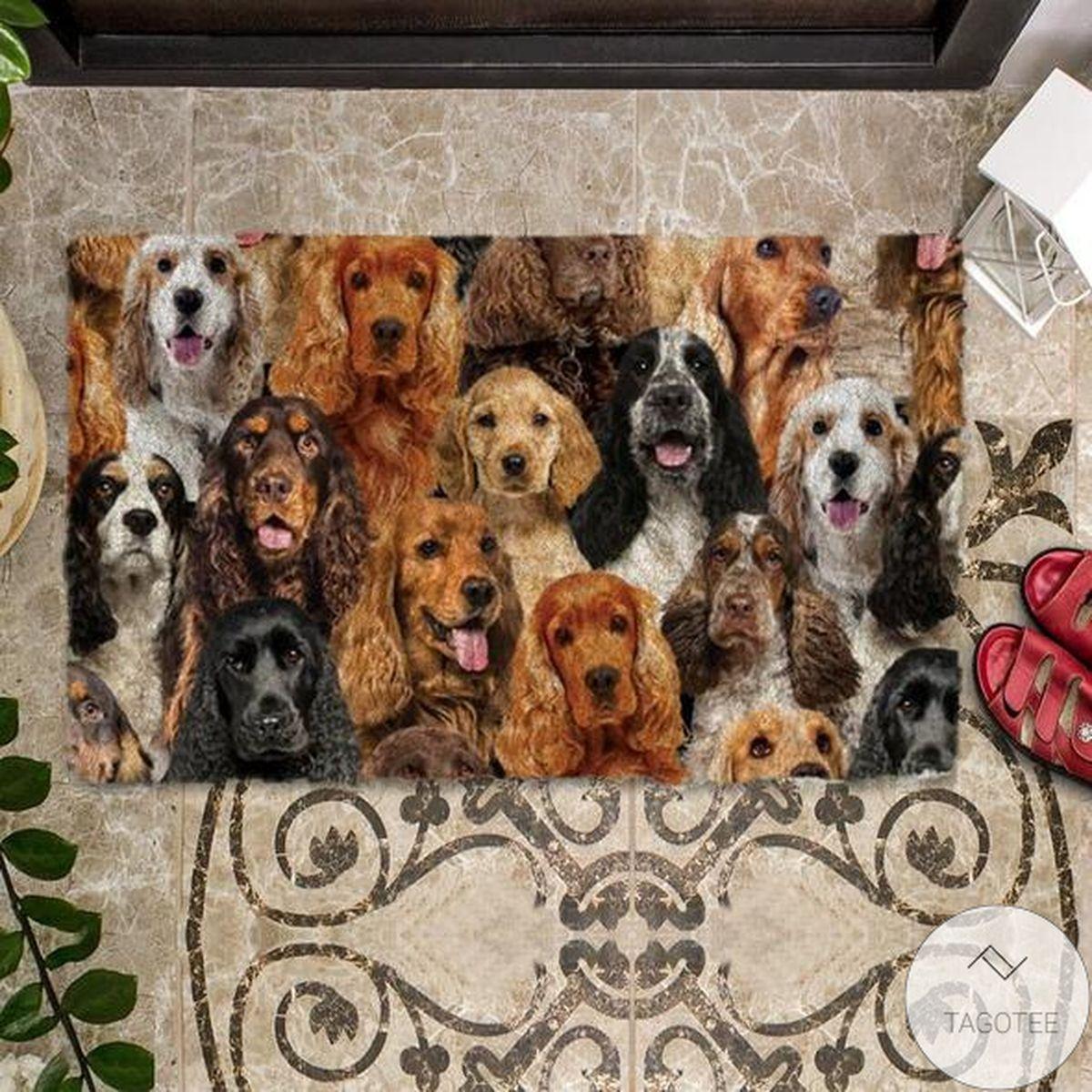 Present A Bunch Of Cocker Spaniels Doormat