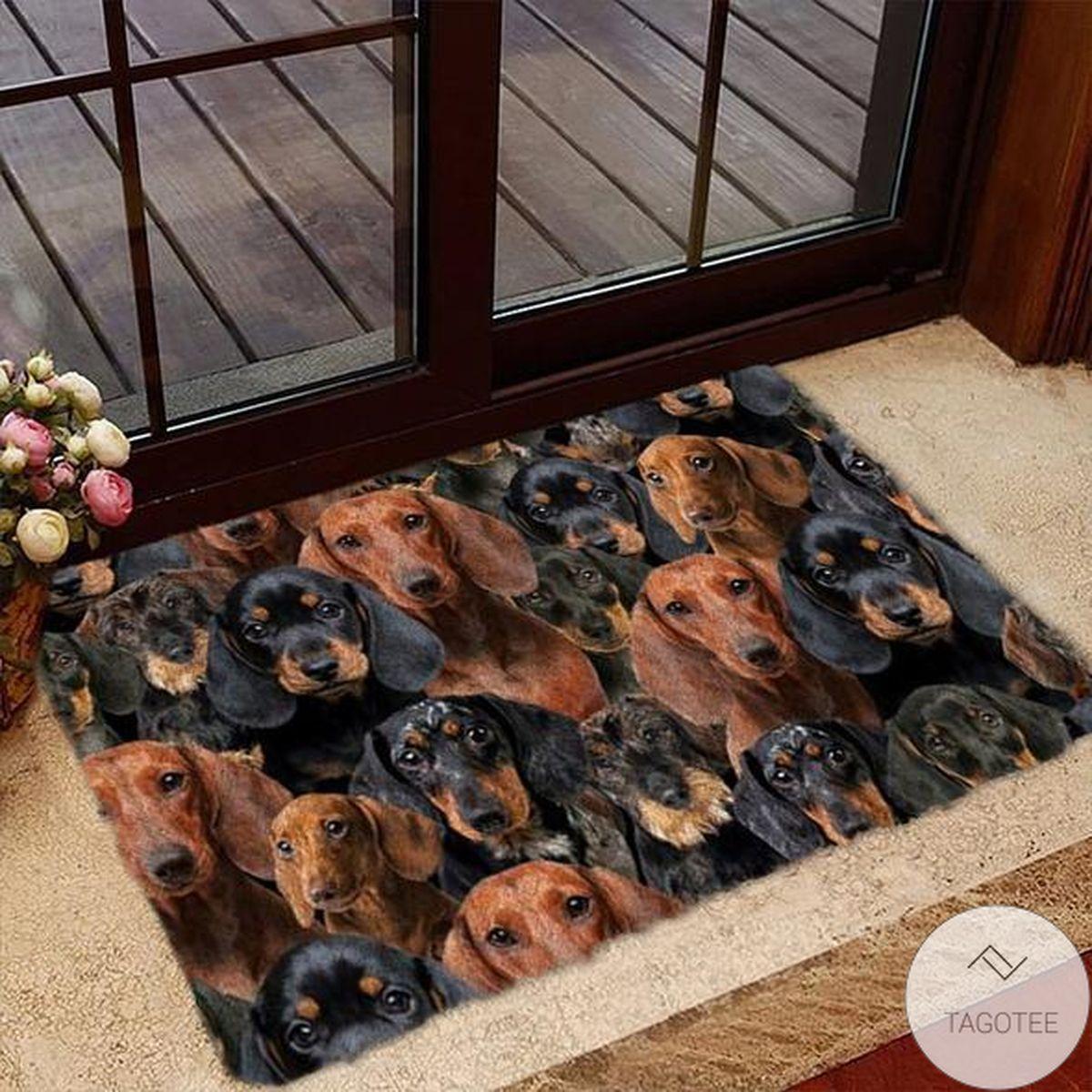 Amazing A Bunch Of Dachshunds Doormat