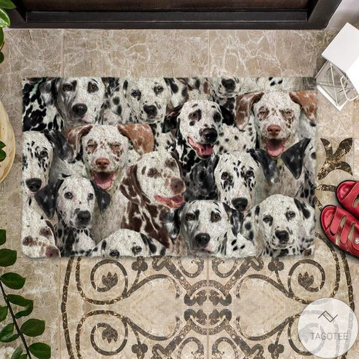 Esty A Bunch Of Dalmatians Doormat