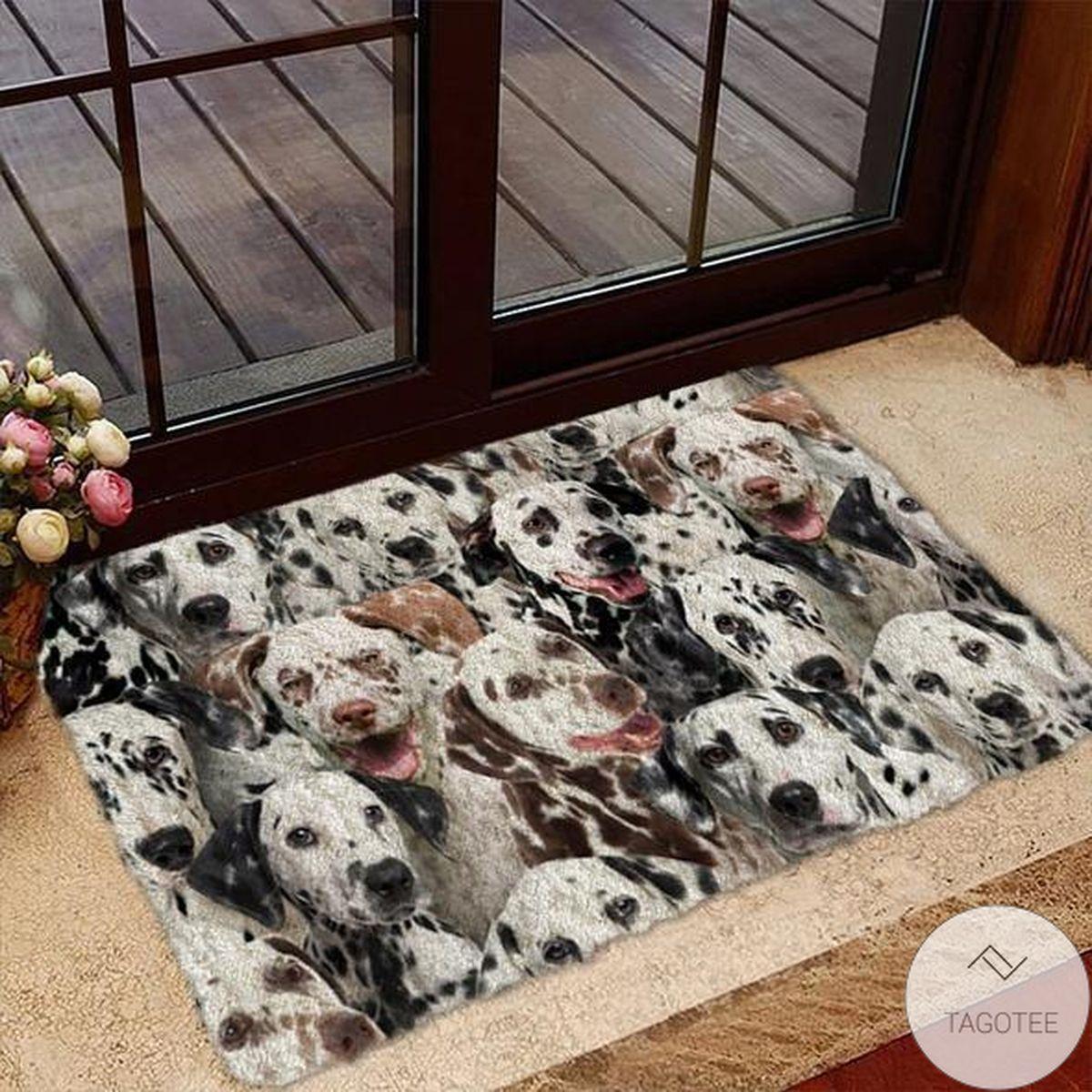 A Bunch Of Dalmatians Doormat