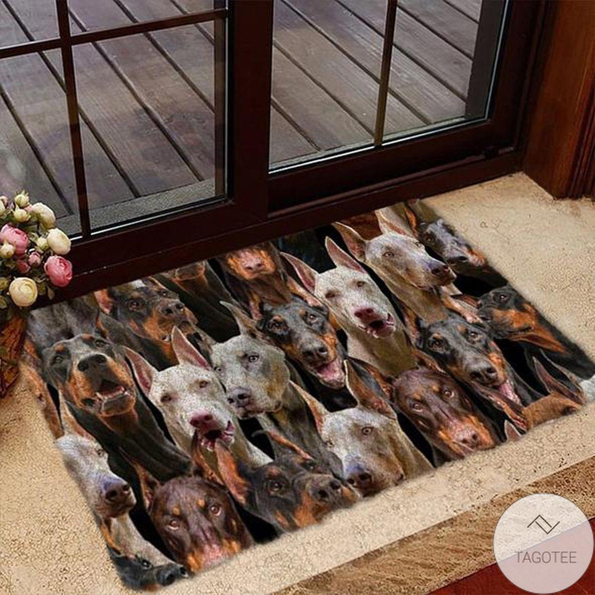 A Bunch Of Doberman Doormat