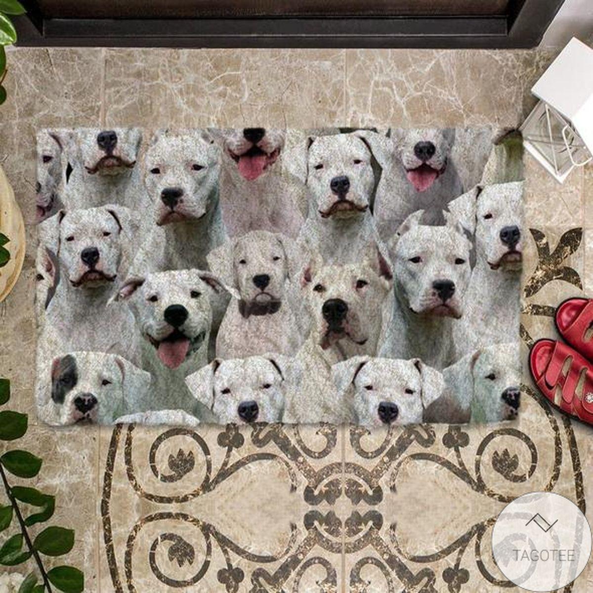Popular A Bunch Of Dogo Argentinoes Doormat