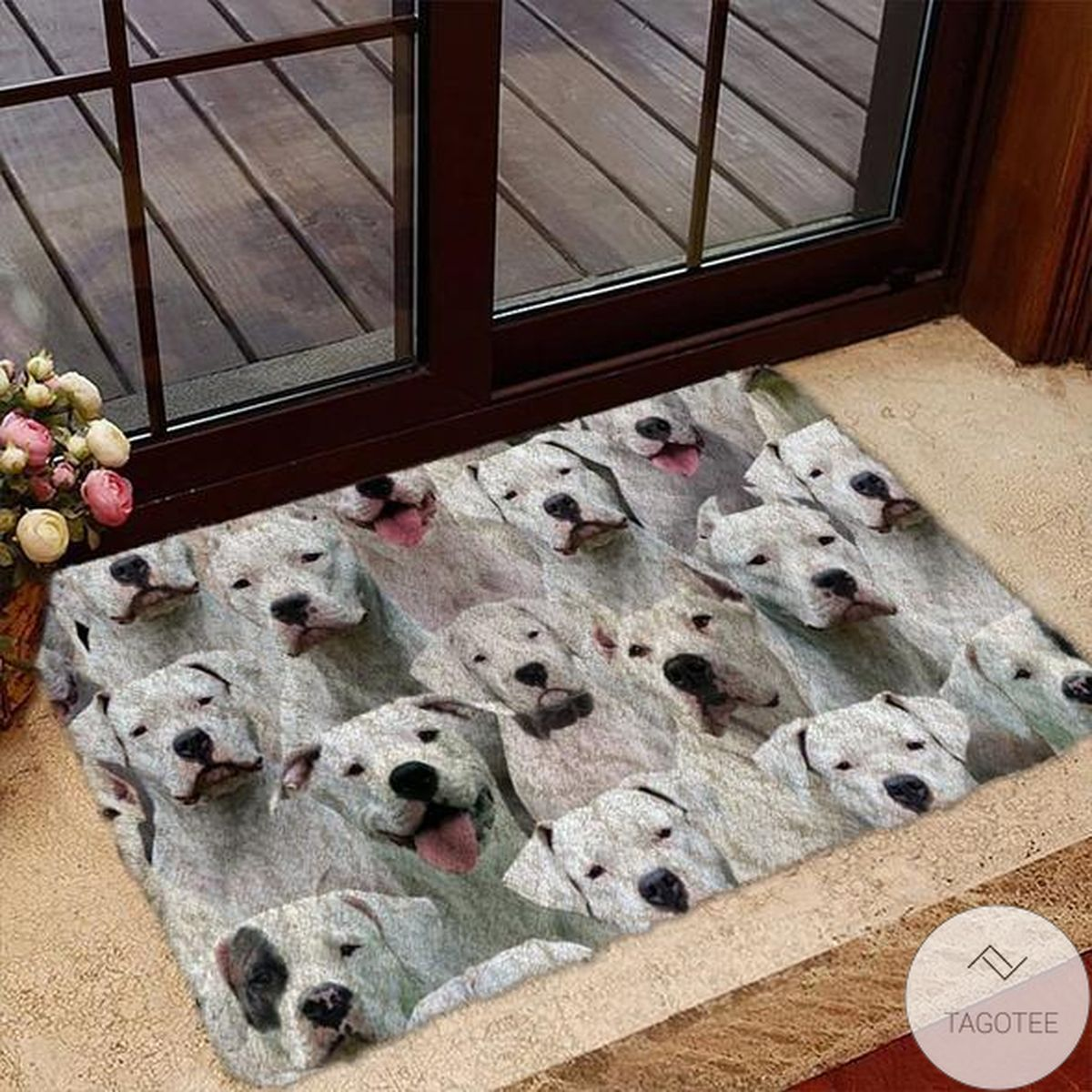 A Bunch Of Dogo Argentinoes Doormat