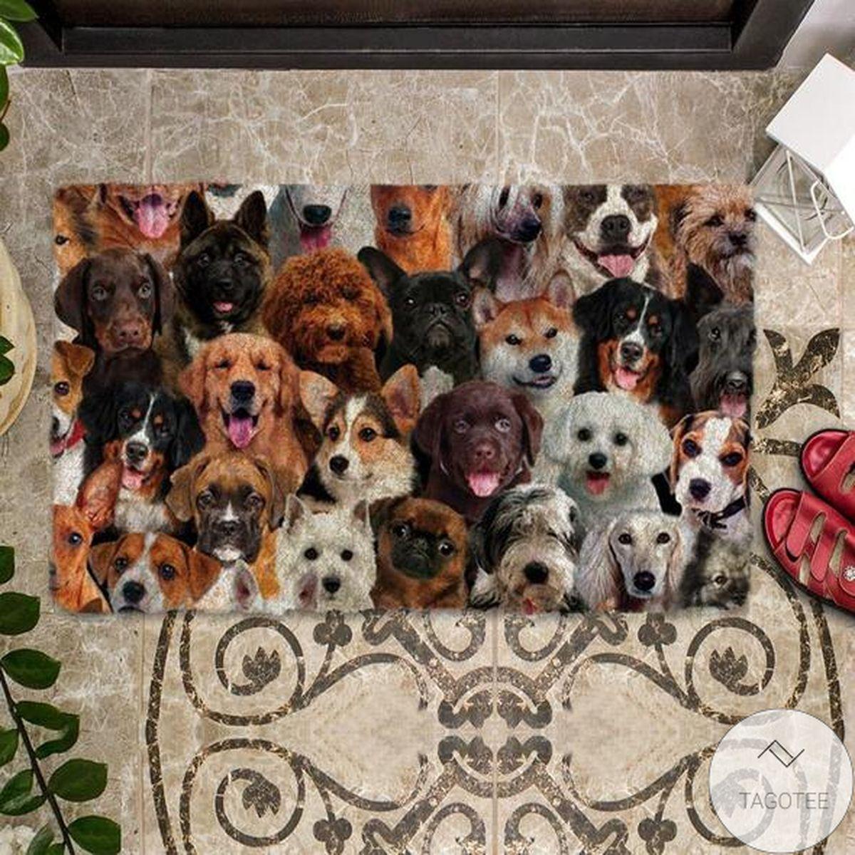 A Bunch Of Dogs Doormat