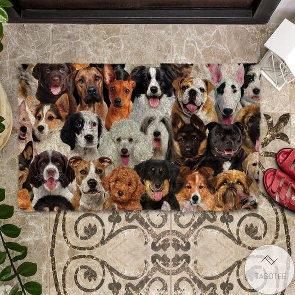 Top Selling A Bunch Of Dogs02 Doormat