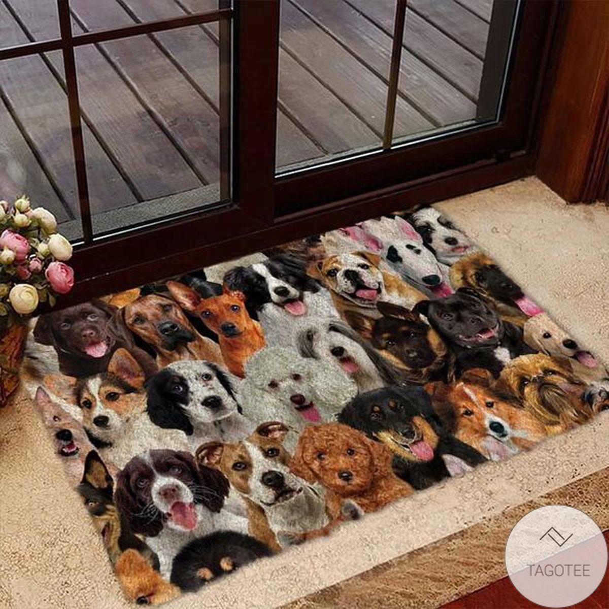 A Bunch Of Dogs02 Doormat