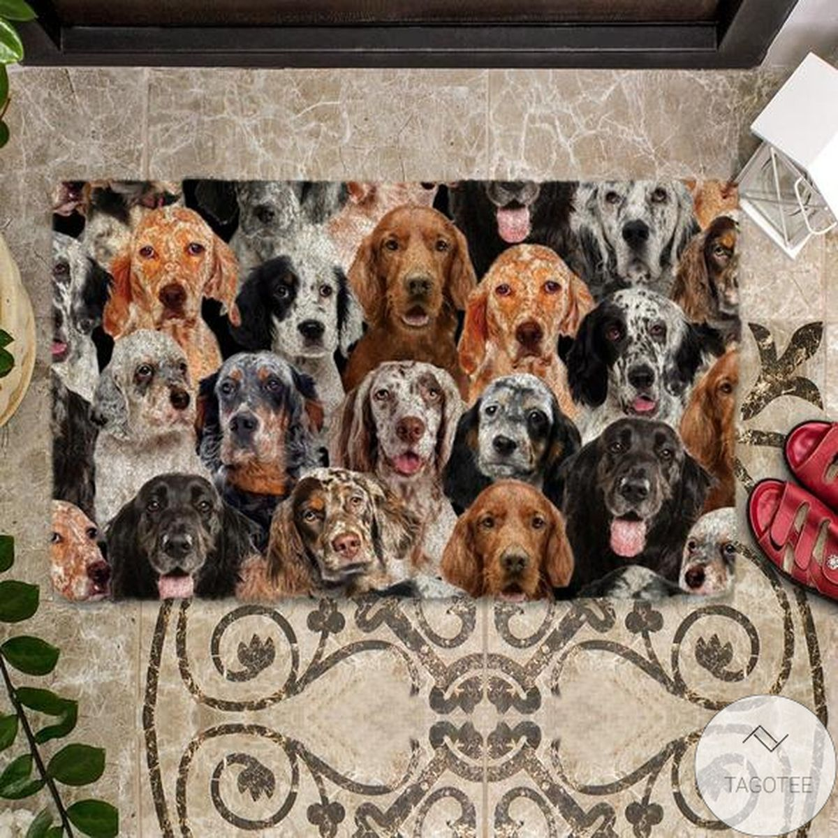 Amazing A Bunch Of English Setters Doormat