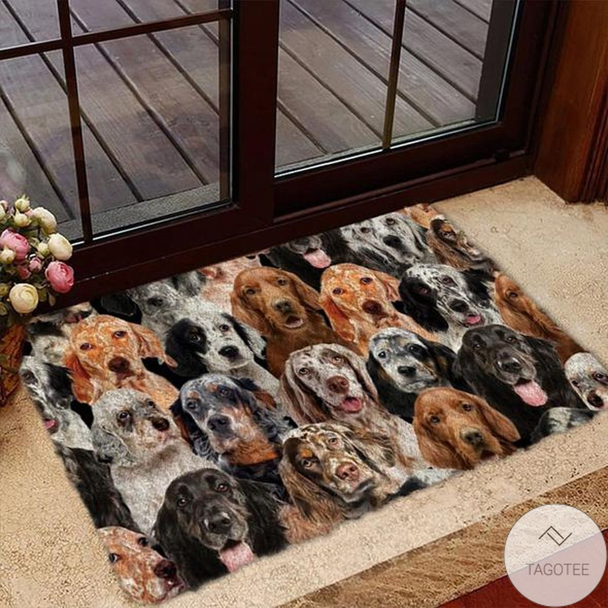 A Bunch Of English Setters Doormat