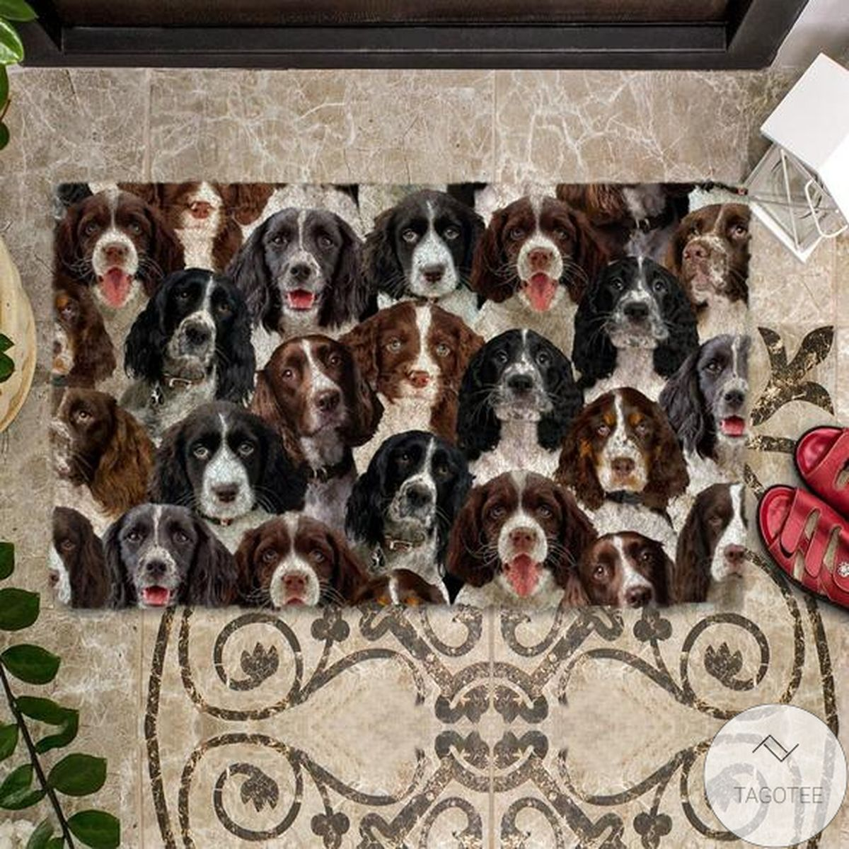 Excellent A Bunch Of English Springer Spaniels Doormat