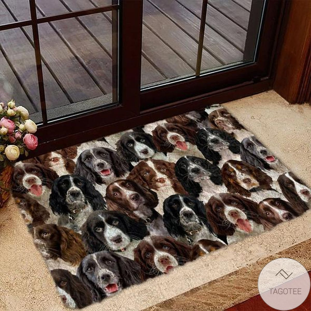 A Bunch Of English Springer Spaniels Doormat