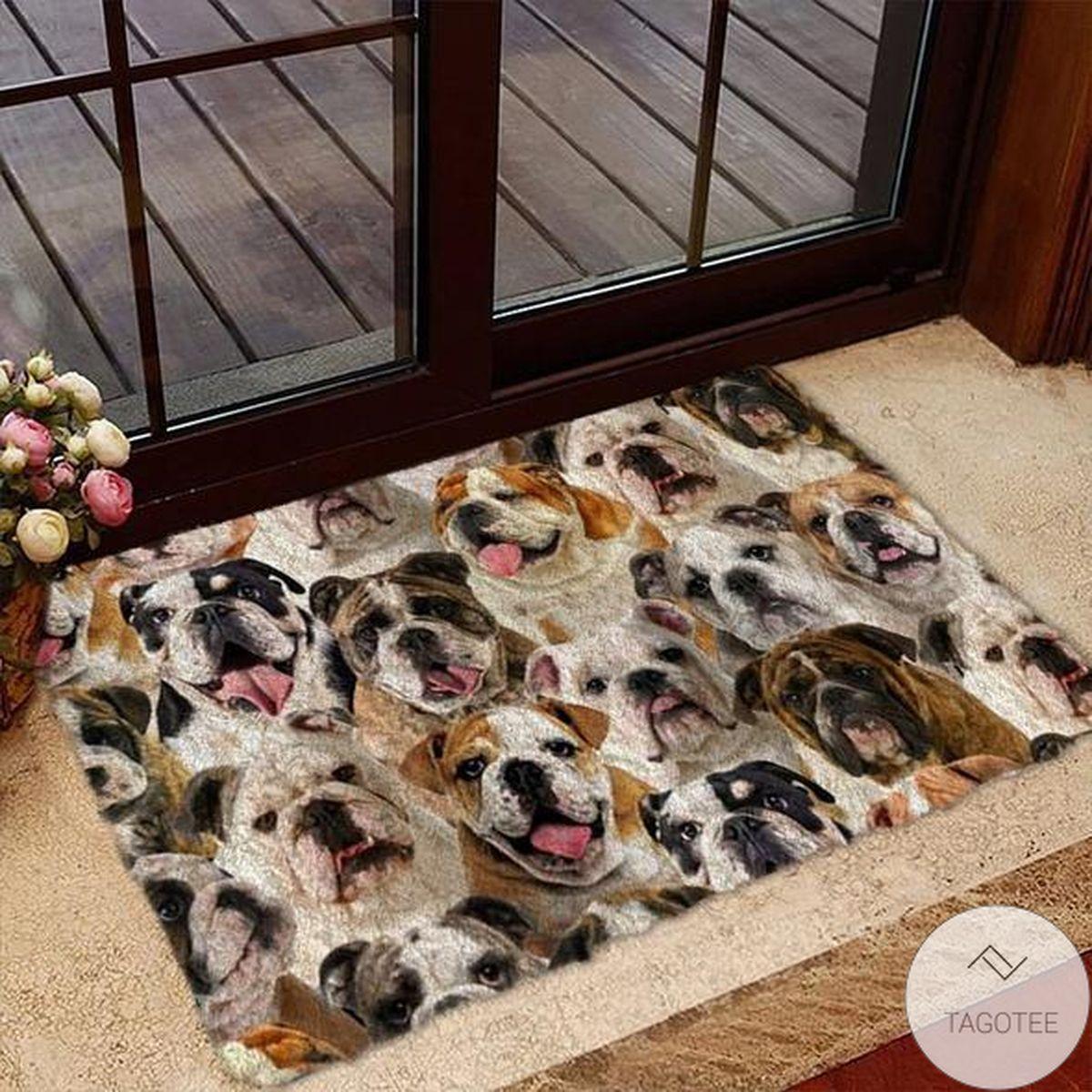 A Bunch Of EnglishBritish Bulldogs Doormat