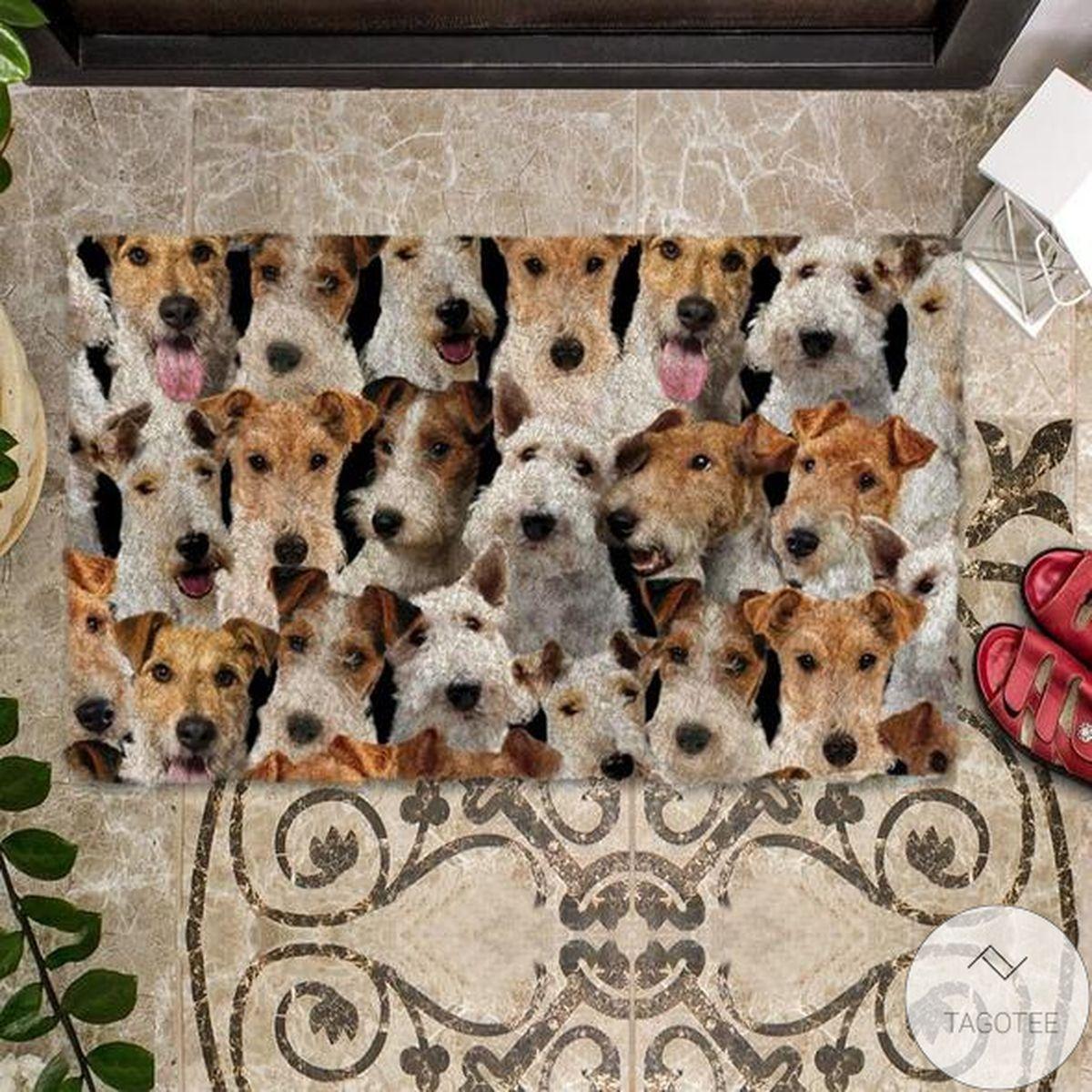 Wonderful A Bunch Of Fox Terriers Doormat