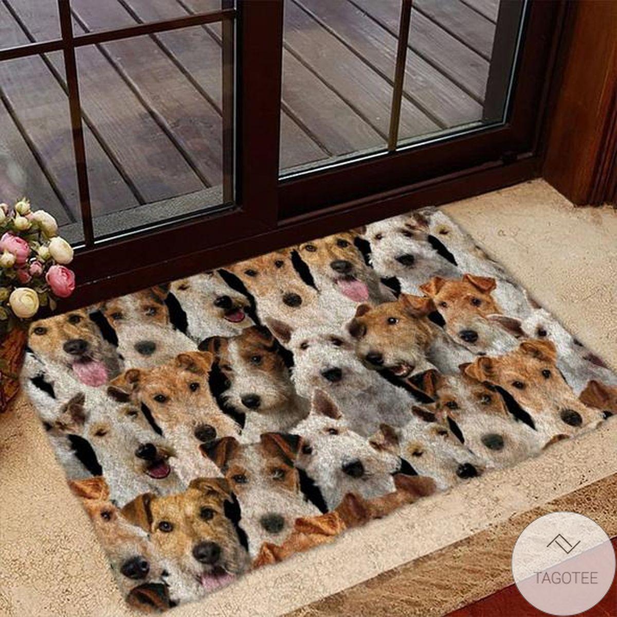 A Bunch Of Fox Terriers Doormat