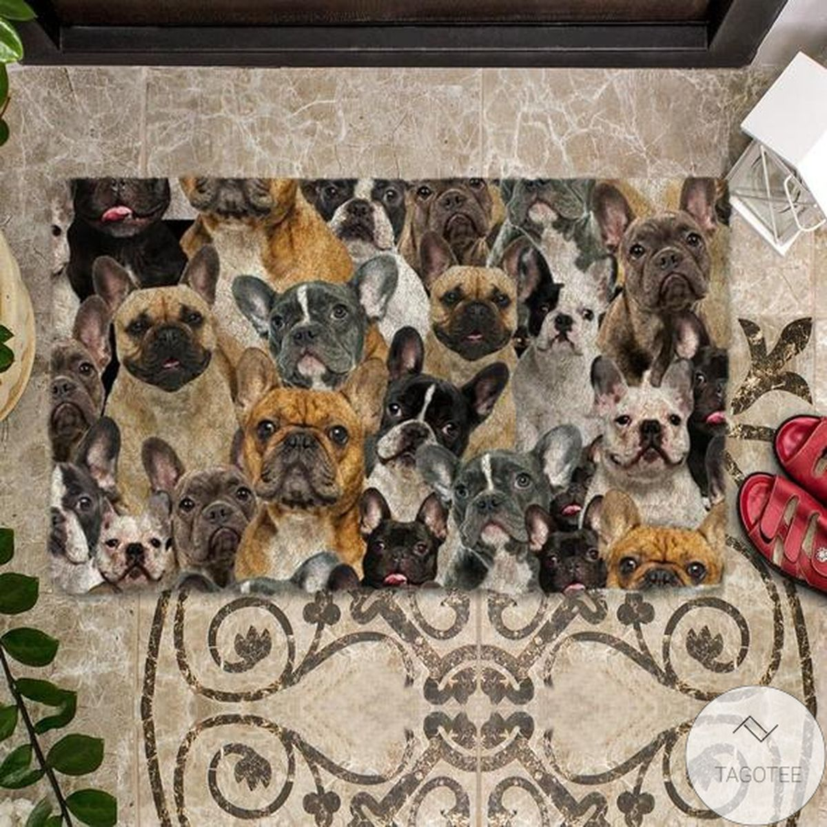 Amazing A Bunch Of French Bulldogs Doormat
