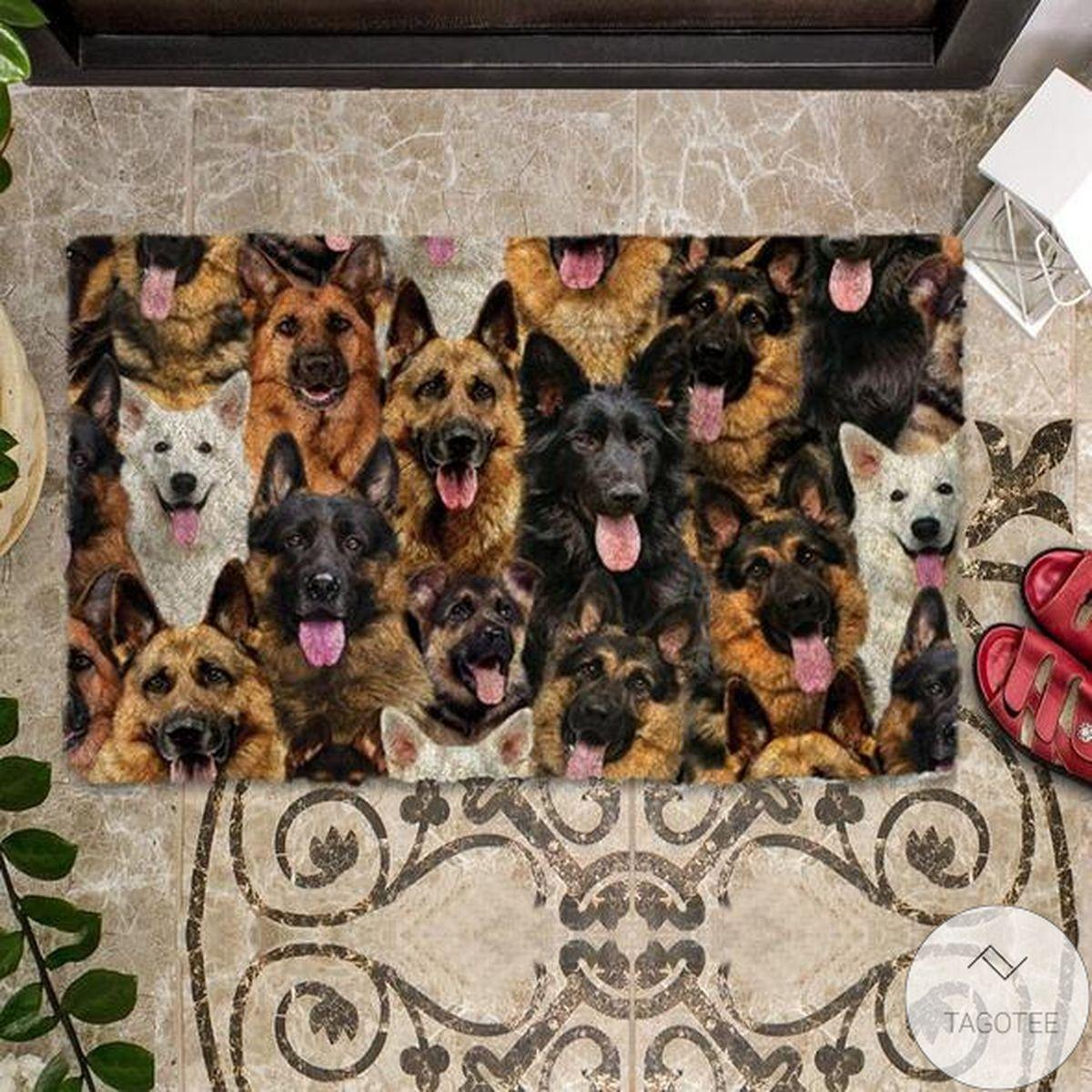 Free A Bunch Of German Shepherds Doormat