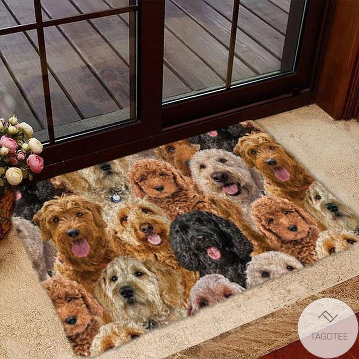 A Bunch Of Goldendoodles Doormat