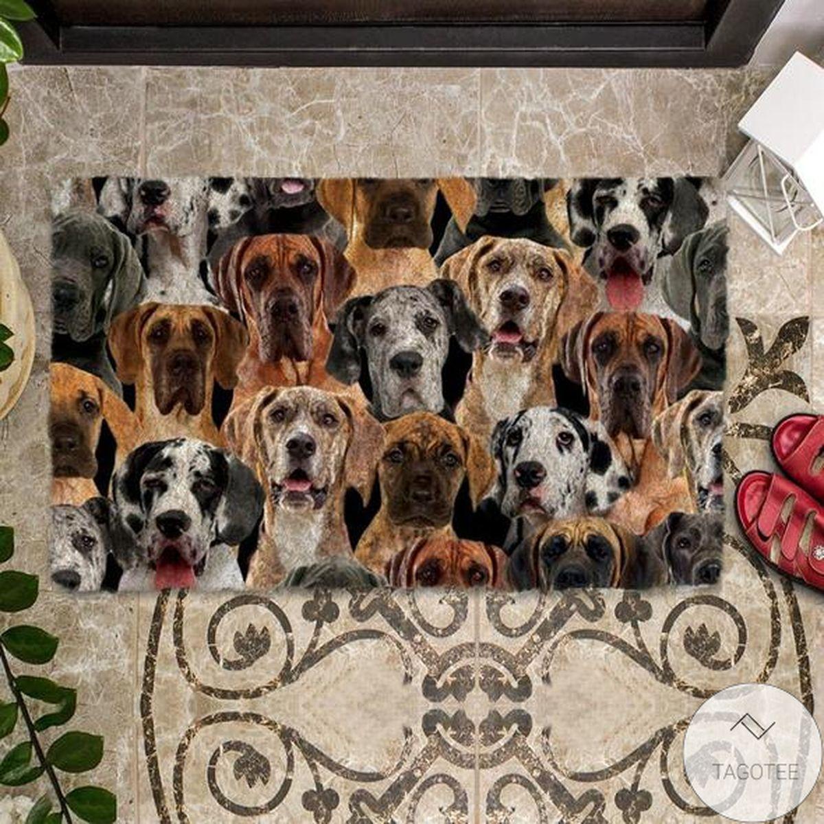 Luxury A Bunch Of Great Danes Doormat