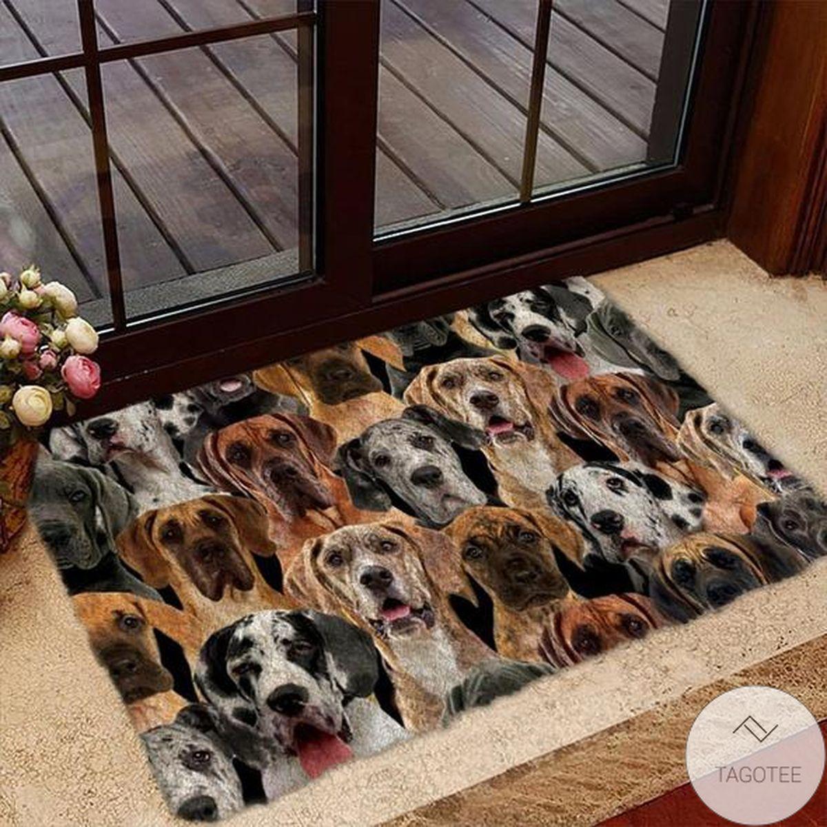A Bunch Of Great Danes Doormat