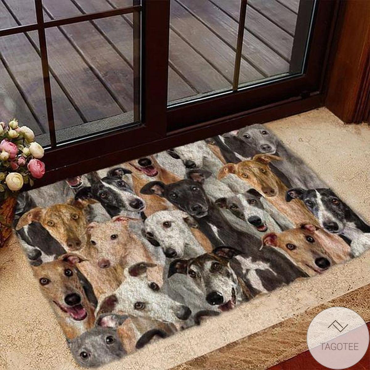 A Bunch Of Greyhounds Doormat