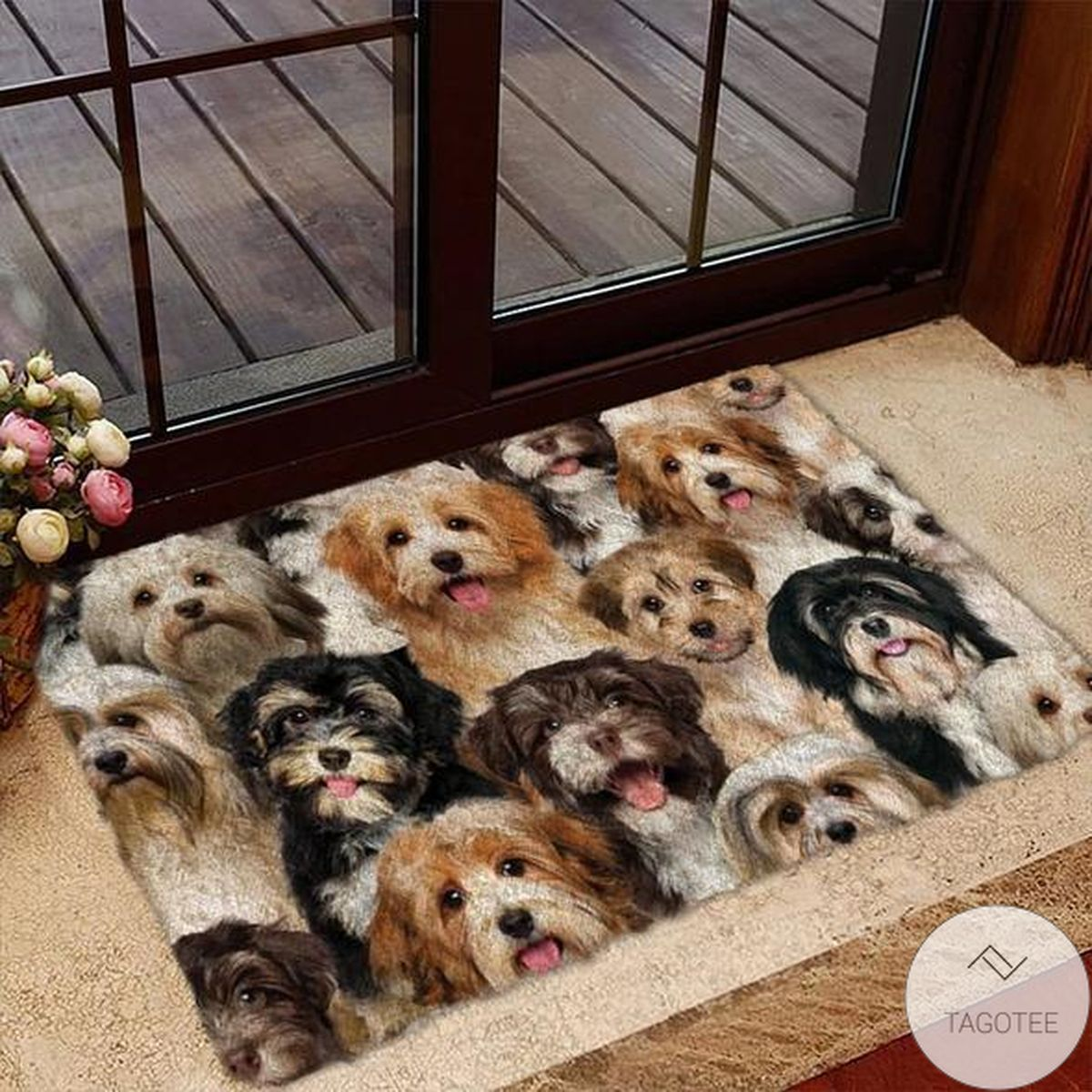 A Bunch Of Havaneses Doormat
