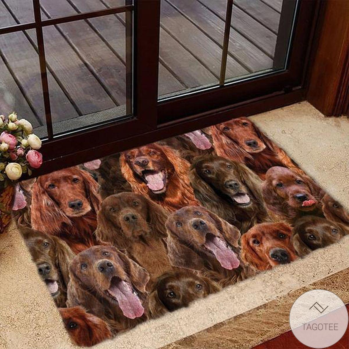 A Bunch Of Irish Setters Doormat