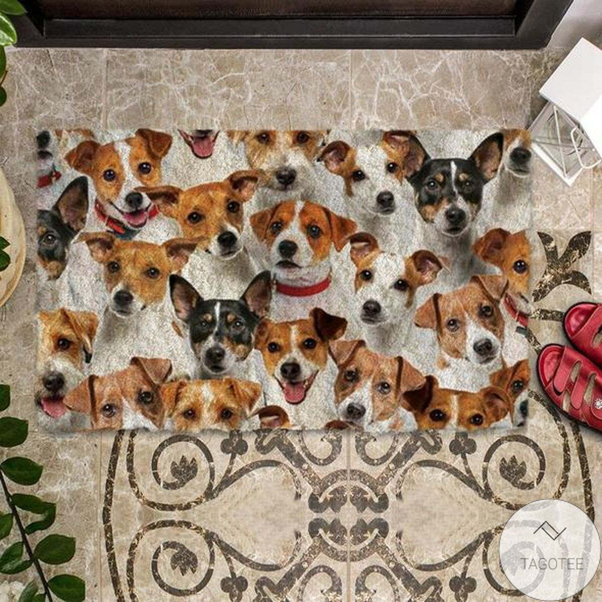 Free Ship A Bunch Of Jack Russell Terriers Doormat