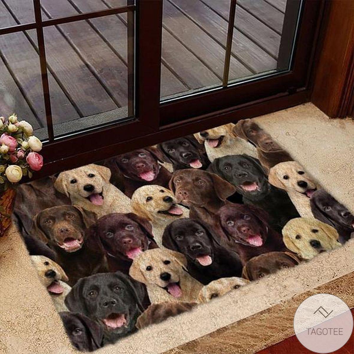 Present A Bunch Of Labradors Doormat