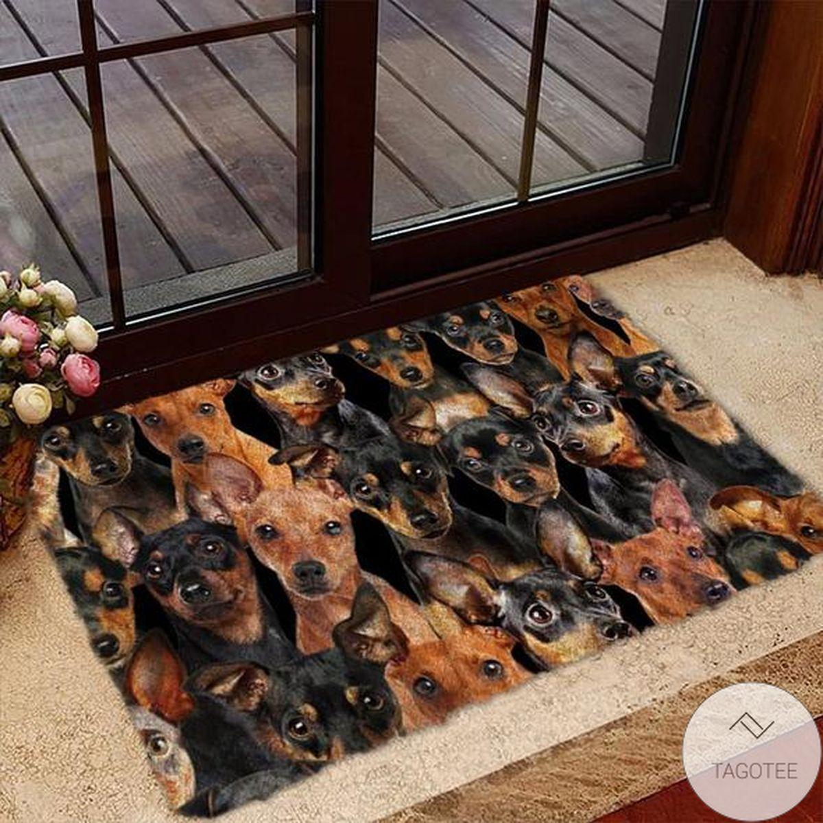 A Bunch Of Miniature Pinschers Doormat