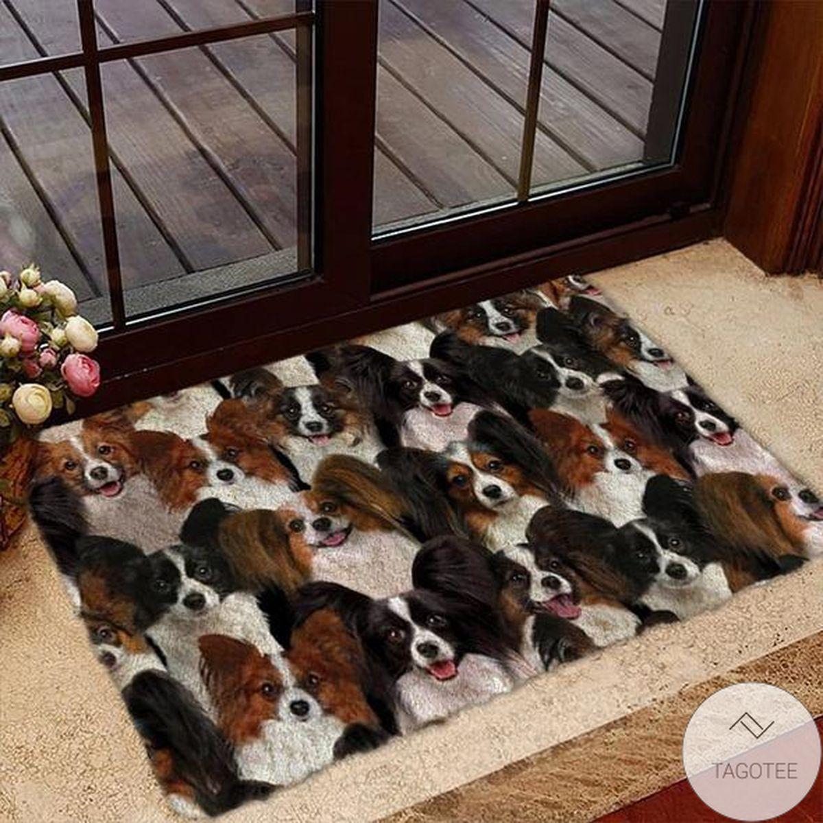 A Bunch Of Papillons Doormat