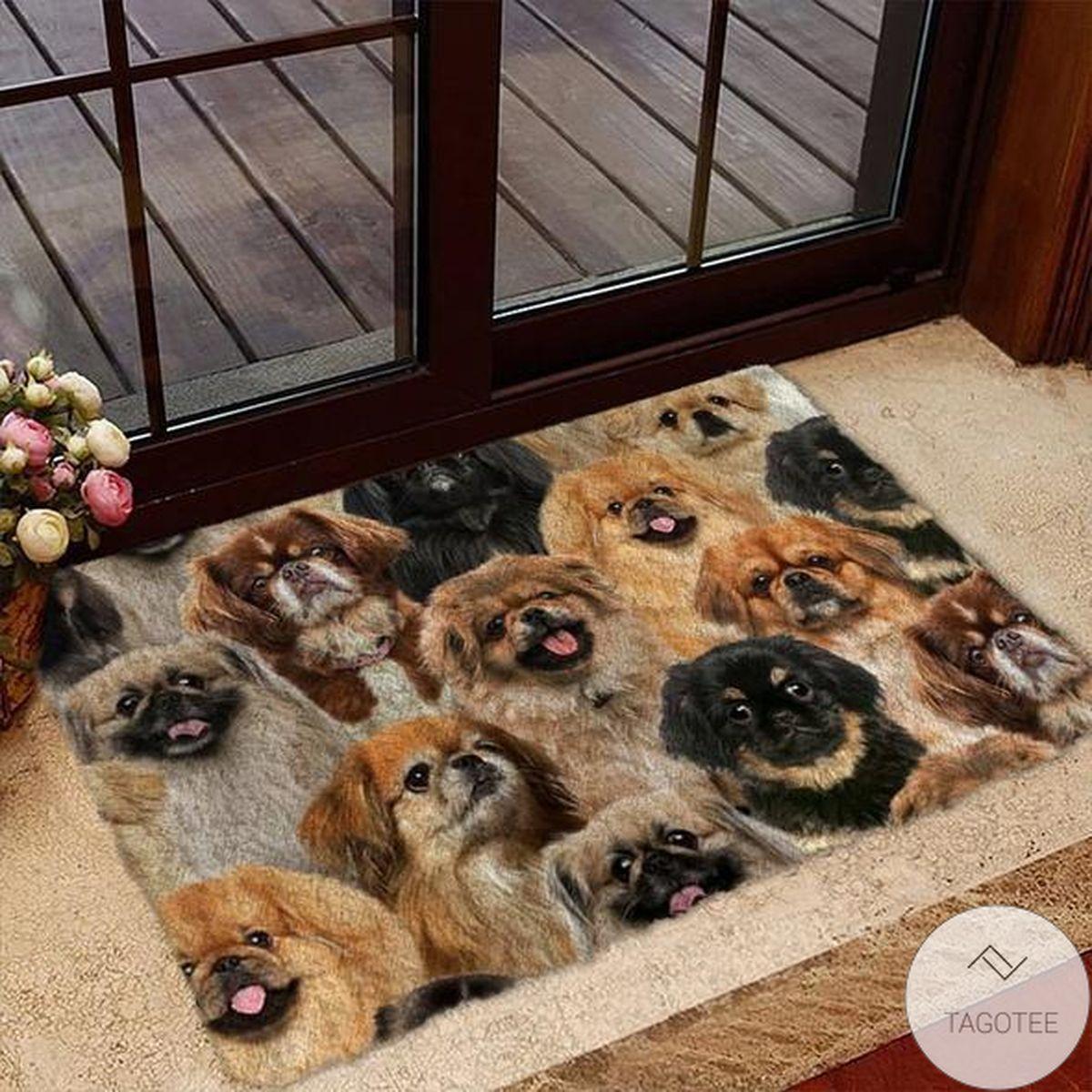 A Bunch Of Pekingeses Doormat