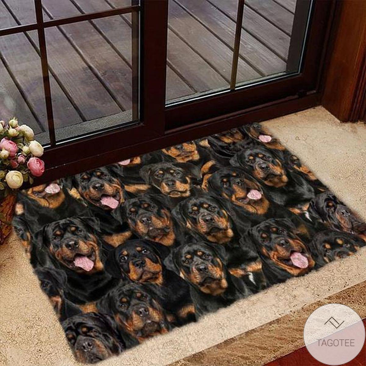 A Bunch Of Rottweilers Doormat