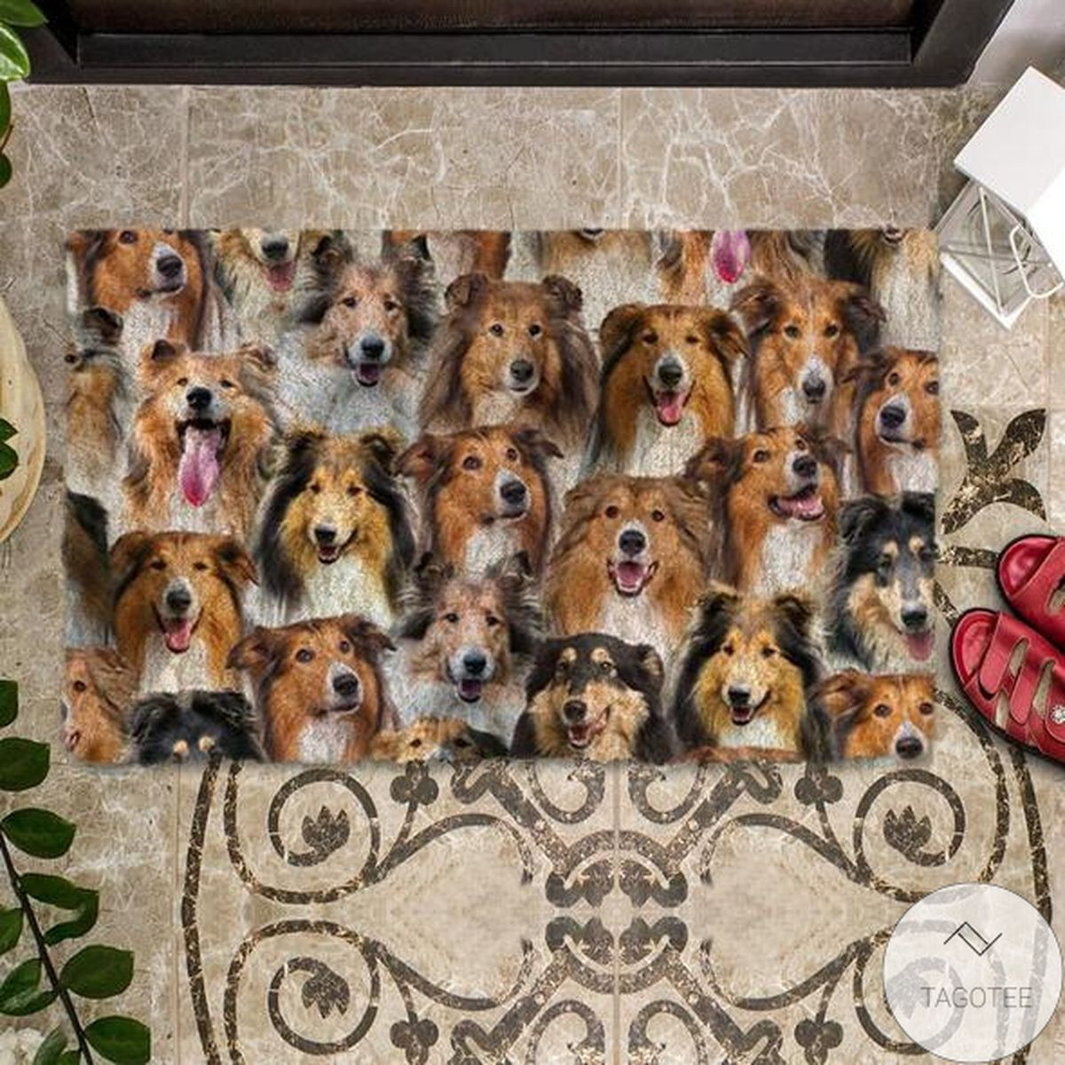 Limited Edition A Bunch Of Rough Collies Doormat