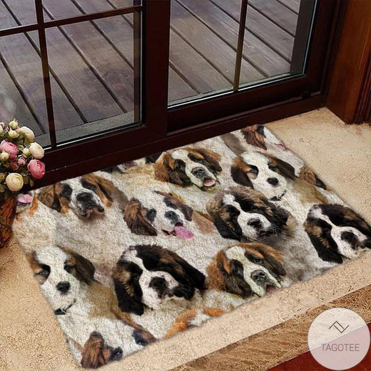 A Bunch Of St. Bernards Doormat