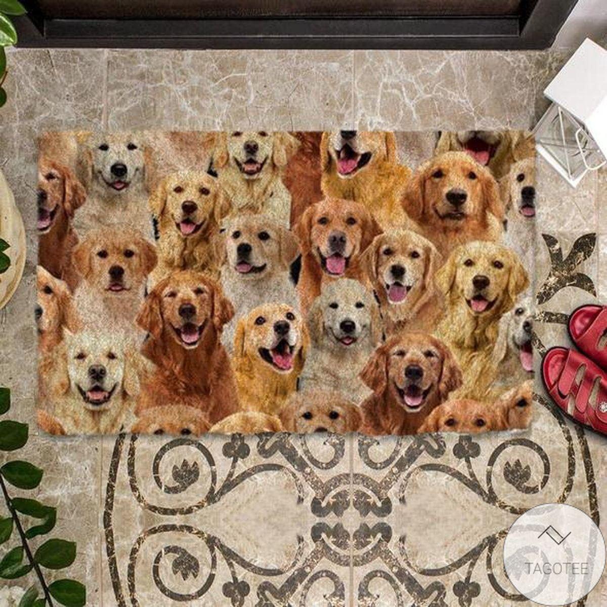 Hot Deal A bunch Of Golden Retrievers Doormat