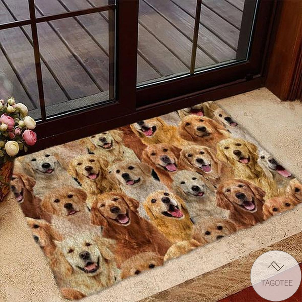 A bunch Of Golden Retrievers Doormat