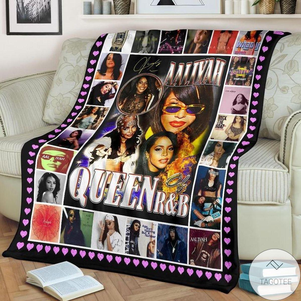 Aaliyah Queen Of R&b Blanket a