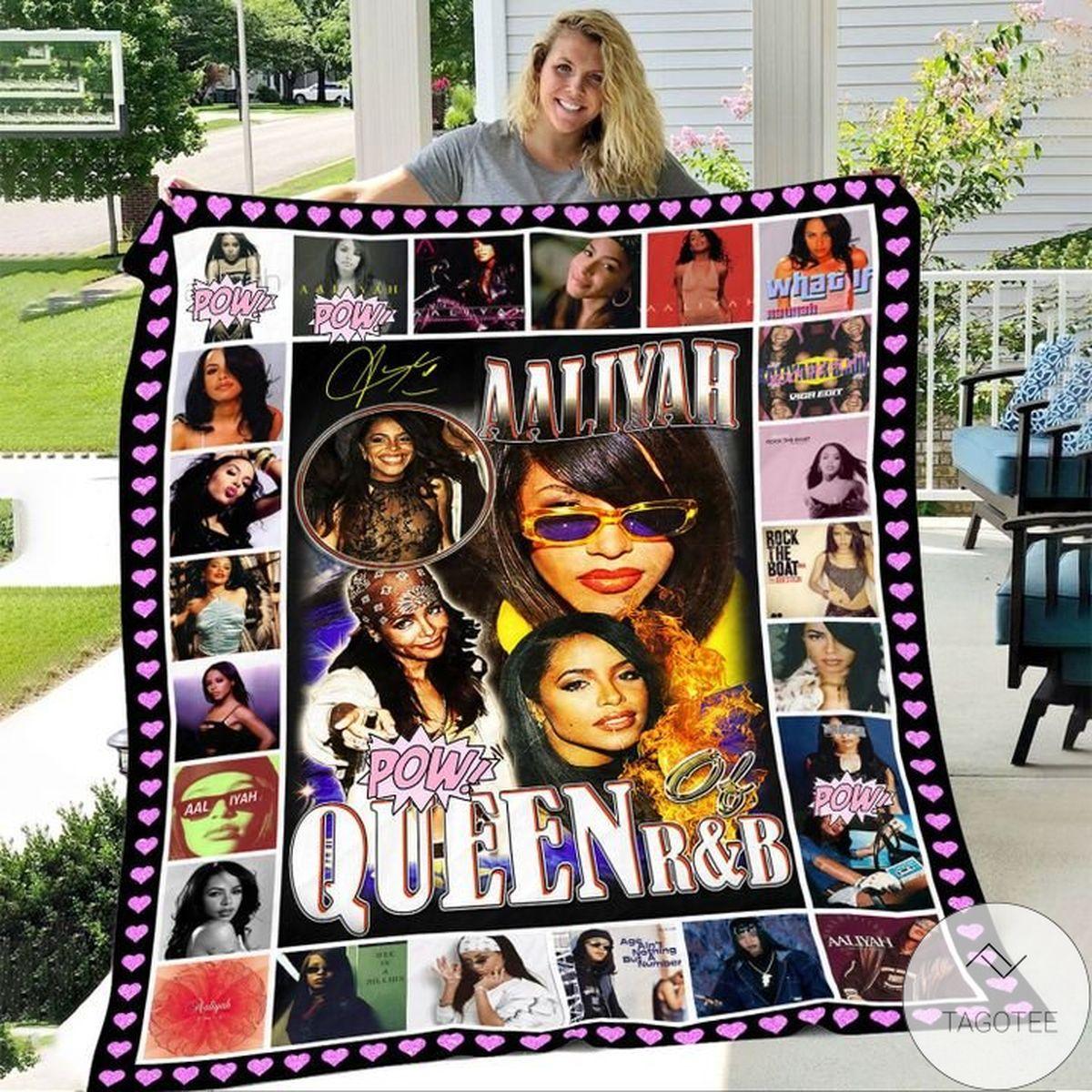 Aaliyah Queen Of R&b Blanket