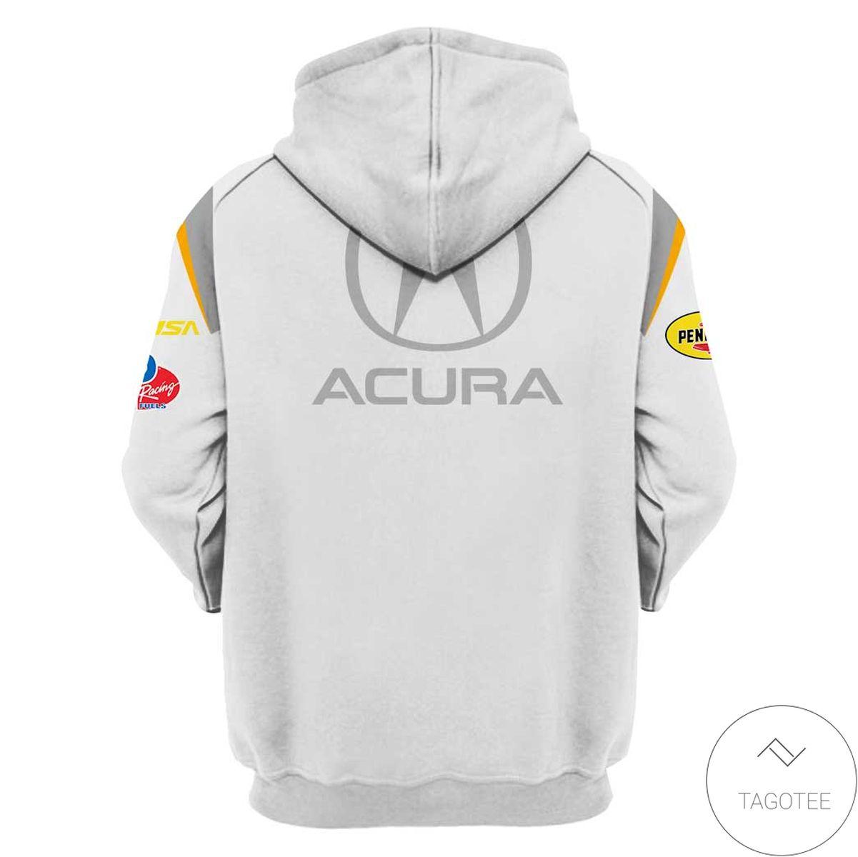 Luxury Acura Rallying Branded Unisex Racing Car  3d Hoodie